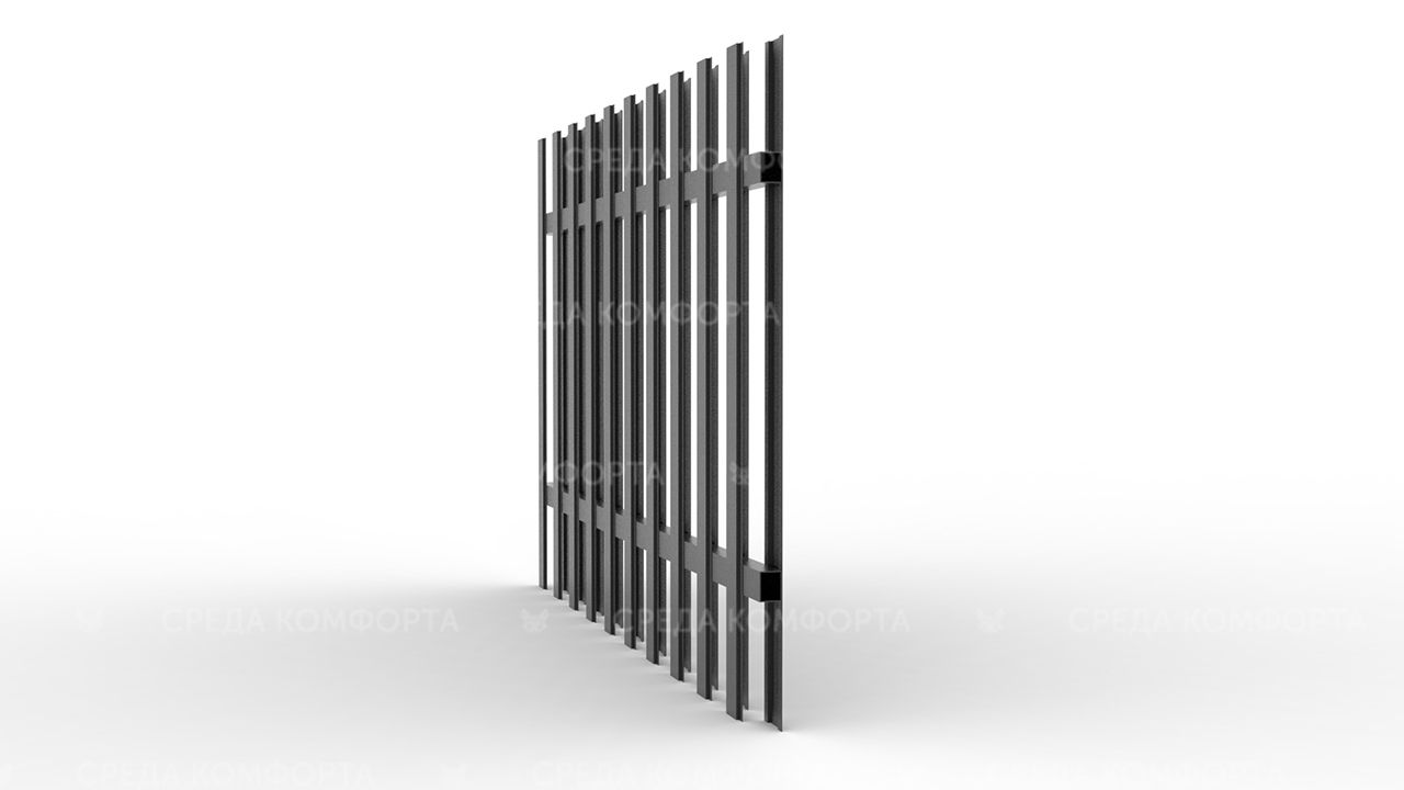 Забор из евроштакетника ZBR0064