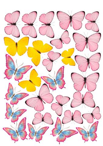 Печать на вафельной бумаге, Набор Бабочки 14