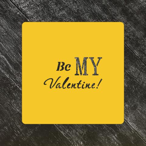 Трафарет любовь №71 Be my valentine