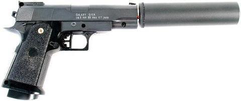 Cтрайкбольный пистолет Galaxy G.10A COLT1911PD mini металлический, пружинный