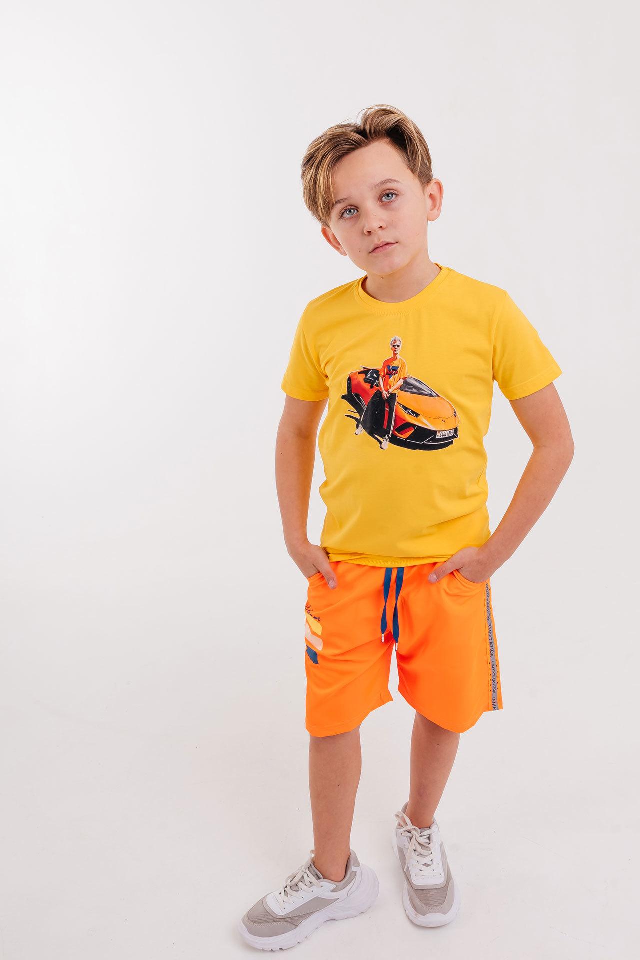 Шорты плавательные для мальчика лампас Cegisa Турция, 0682 (140-152)