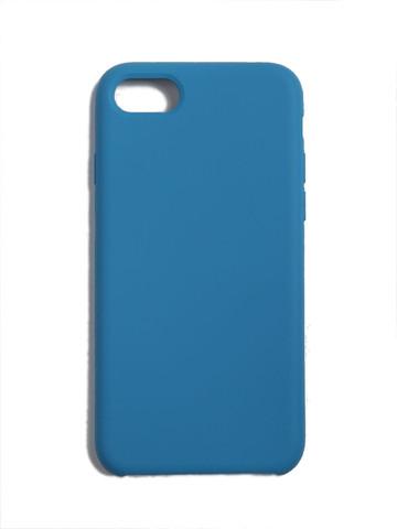 Чехол для iPhone 7+/8+ Софт тач мягкий эффект   микрофибра синий