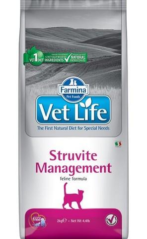 Сухой ветеринарный корм Farmina Vet Life Cat Struvite Management