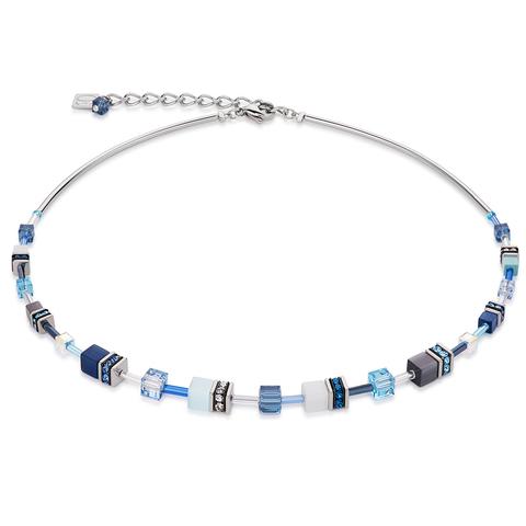 Колье Coeur de Lion 4910/10-0737 цвет белый, синий, голубой