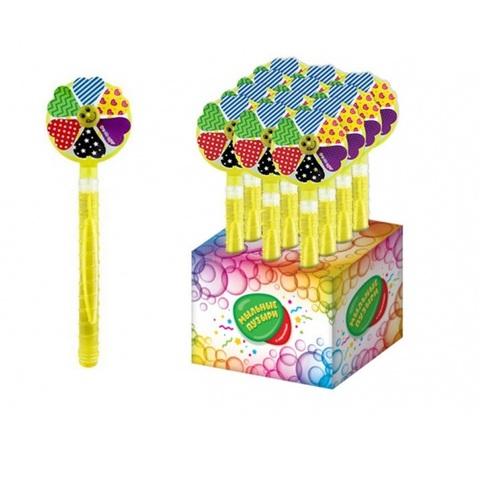 СЗН ЛЕТО Мармелад с игрушкой для пускания мыльных пузырей (мыл.раствор 100мл) Вентилятор 1кор*8бл*12шт, 3г.