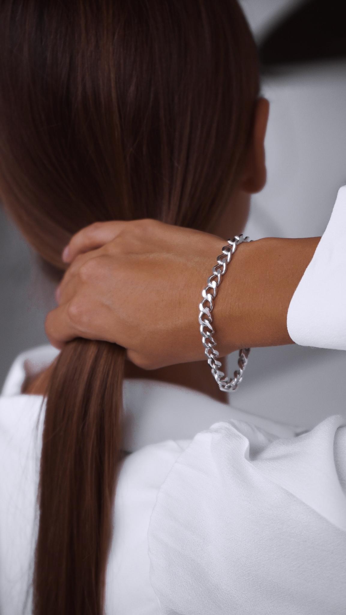 Серебряный массивный браслет