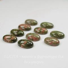 Кабошон овальный Унакит, 18х13х6 мм