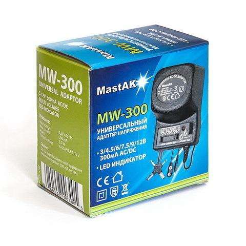 Блок питания Mastak MW-300 (3/4.5/6/7.5/9/12V, 300 mAh)