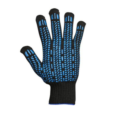 Перчатки ХБ с ПВХ черные
