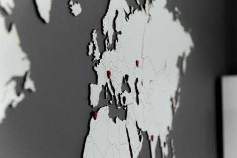 Карта мира World Map Wall Decoration White 130 х 78 cm