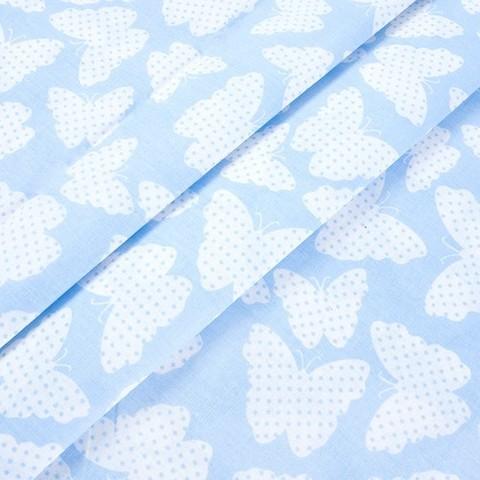 Бязь плательная 150 см 1792/2 цвет голубой