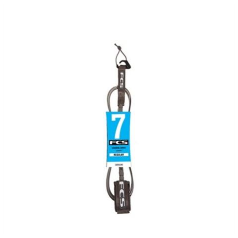 Лиш FCS 7' Regular Leash 7mm Graphite