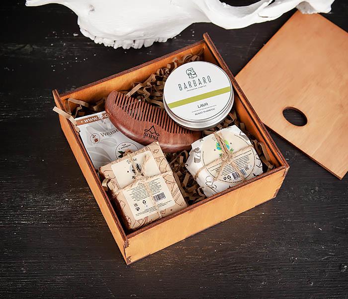 PSET105 Набор средств для ухода, мыло, шампунь, гребень и чай фото 03