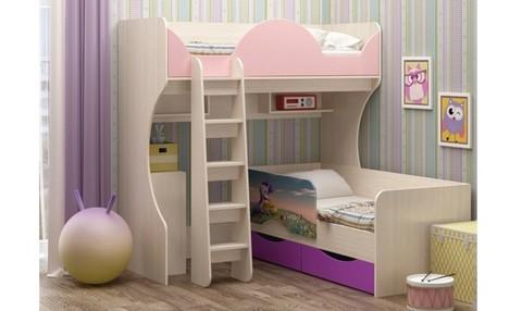 Кровать-чердак Бемби-10 + кровать Юниор-12
