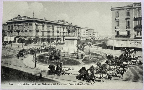 Alexandria. - Mehemet-Ali Place and French Garden - L.L.