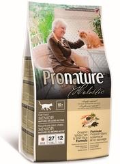 Облегченный корм для взрослых и пожилых кошек, Pronature Holistic, с океанической белой рыбой и диким рисом