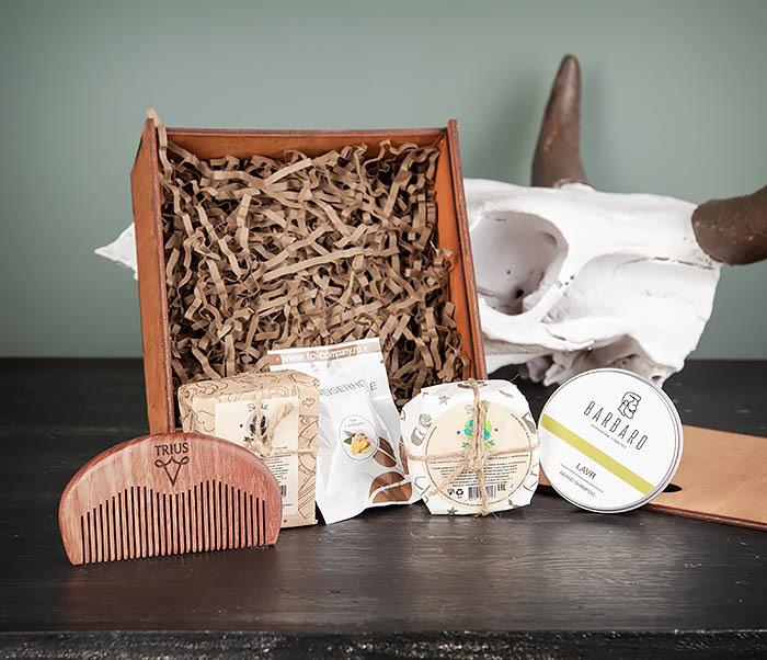 PSET105 Набор средств для ухода, мыло, шампунь, гребень и чай фото 04