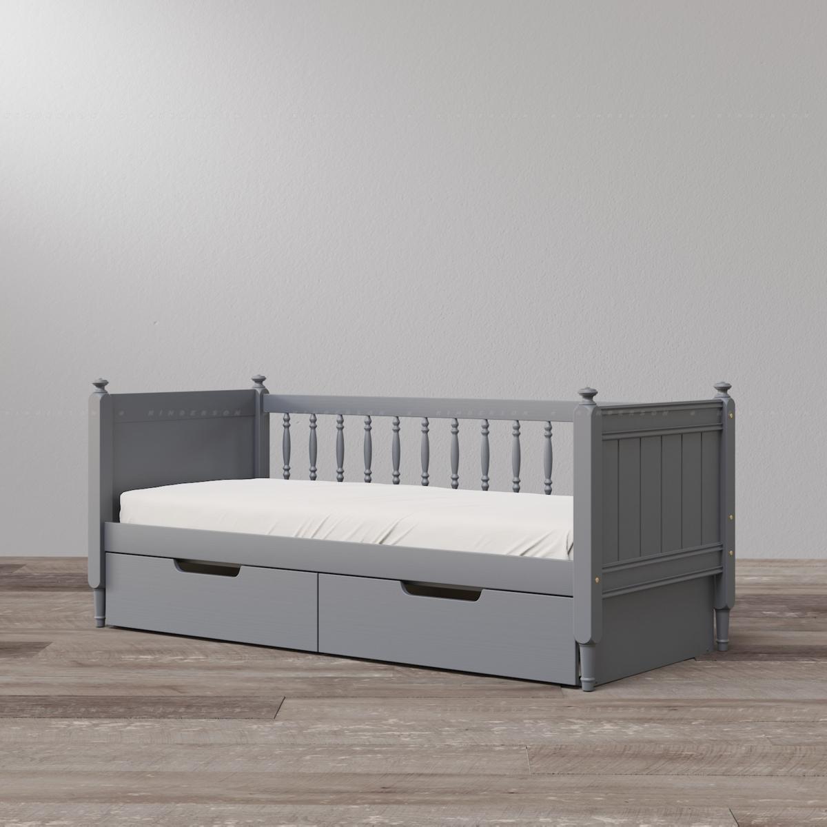 Кровать-софа Diamond со встроенными ящиками (опция). Цвет серый (ral 7024)