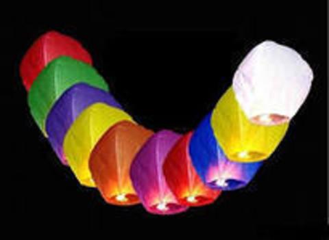 10 Небесных фонариков