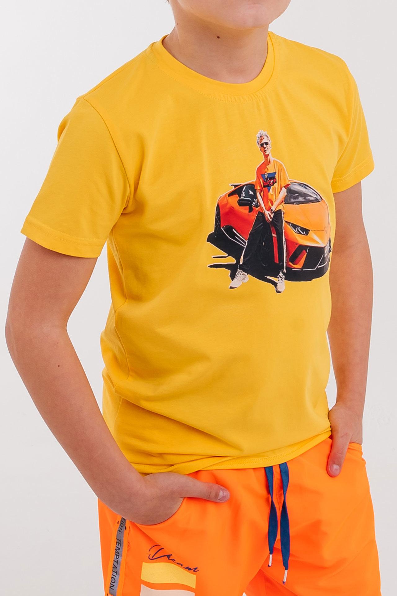 Футболка для мальчика A4 Lamborgini Bold Турция, 160-21 (116-134)