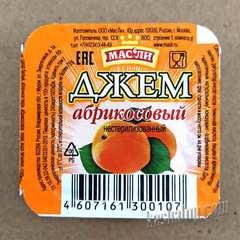 Джем абрикосовый 'МасЛи', этикетка