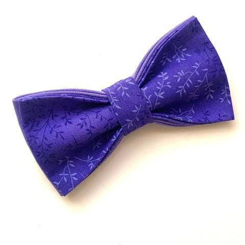 Галстук-бабочка «Фиолетовые веточки»