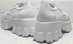 Удобные туфли на толстом каблуке летние женские Gold Deer 157-963 White.