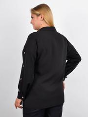Ліка. Офісна жіноча блуза на великий розмір. Чорний.