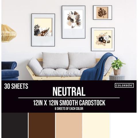 Набор цветного кардстока 30х30 см. Colorbok  Smooth Cardstock- Neutral -30 л