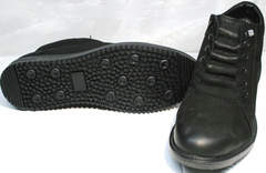 Низкие ботинки зимние мужские Luciano Bellini 71783 Black.