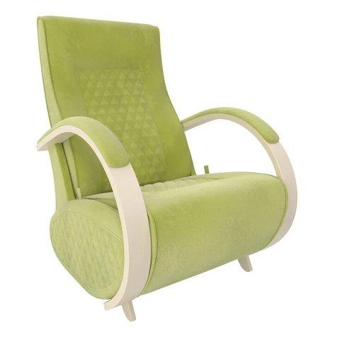 Кресло-глайдер Balance Balance-3 с накладками, дуб шампань/Verona Apple Green, 014.003