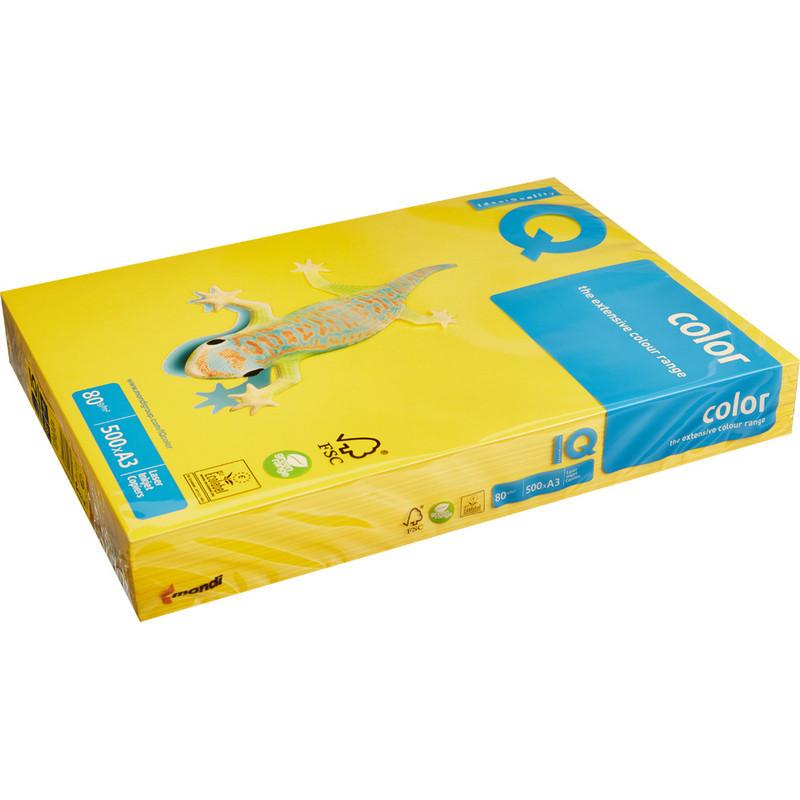 Бумага цветная для офисной техники IQ Color горчичная IG50 (А3, 80 г/кв.м, 500 листов)