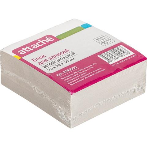 Блок для записей Attache 70x70x30 мм белый (плотность 60 г/кв.м)
