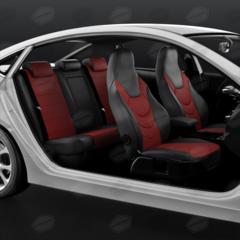 Универсальные авточехлы (черный + красный)