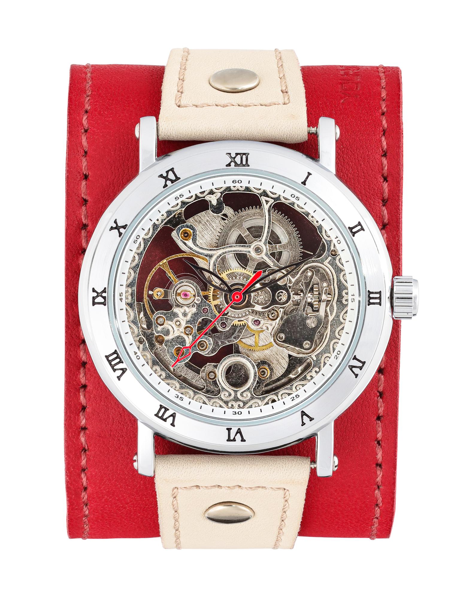 Часы скелетоны женские механические Cherry YOURTIME