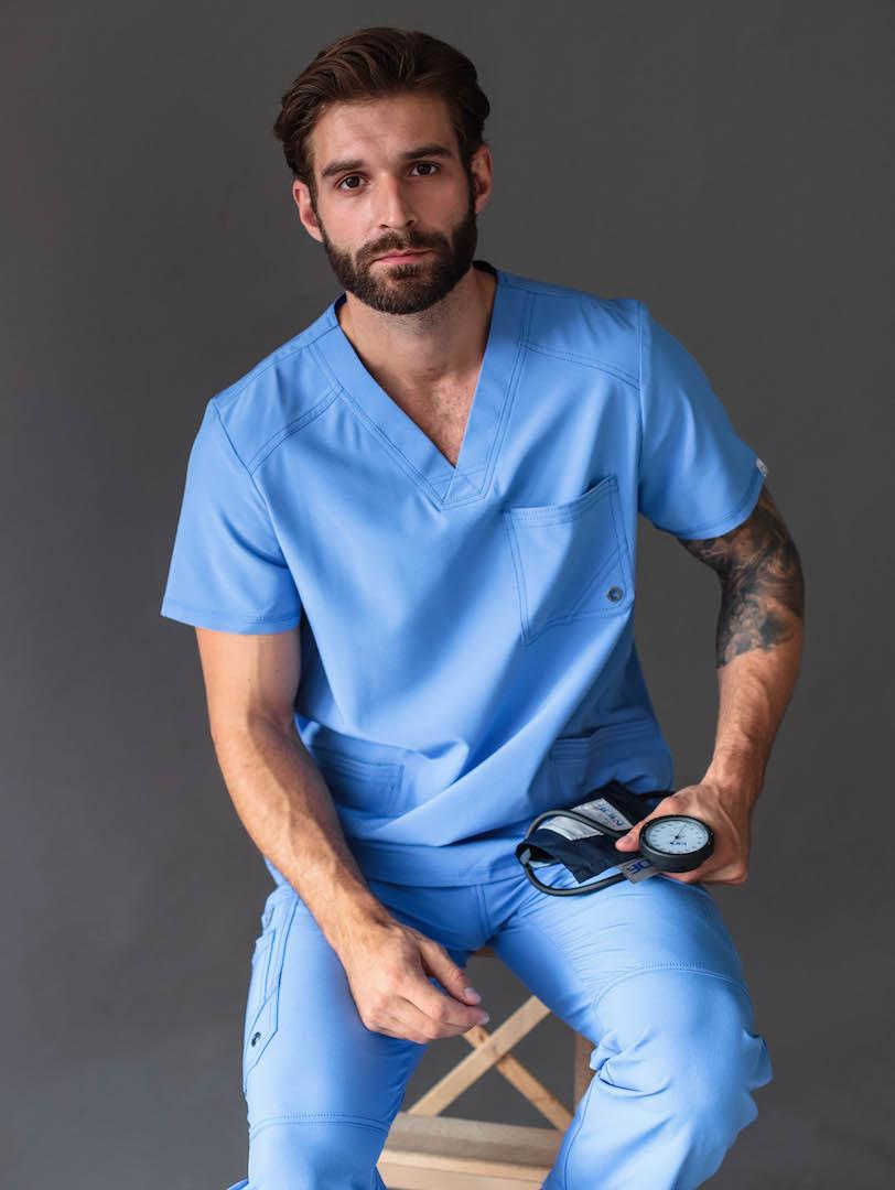 Профессиональный измеритель артериального давления (темно-синего цвета)