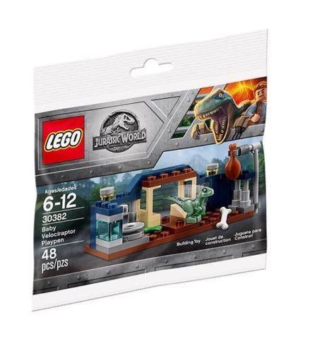 LEGO Jurassic World: Игровая площадка малыша Велоцираптора 30382 — Baby Velociraptor Playpen polybag — Лего Мир Юрского периода