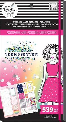 Блокнот со стикерами и стекерблоками Accessory Book -Trendsetter -539 шт