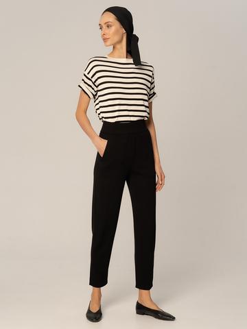 Женские брюки черного цвета из вискозы - фото 2
