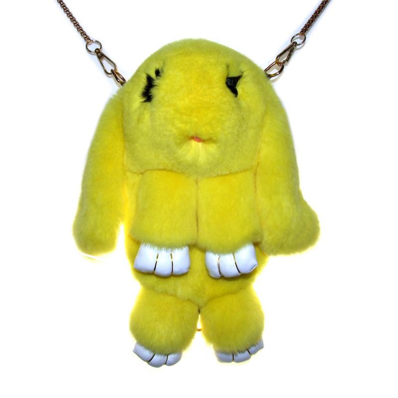 Ярко-жёлтый вариант цвета сумки кролика