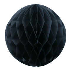 Бумажный Шар-соты 20 см Черный