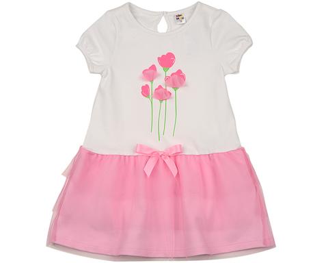 Розовое платье с цветочками Mini-Maxi (арт.UD3960)