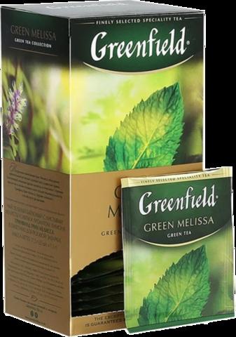Чай зеленый Greenfield Green Melissa в пакетиках, 25 шт