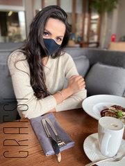700-MS Комплект защитных масок из 3 шт. Черные. Многоразовые.