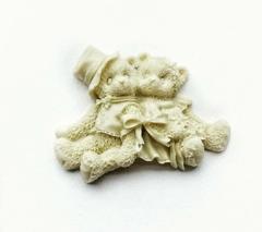 Д0534 Пластиковый декор. Мишки парочка. Размер 6х5 си