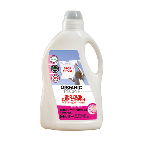 Organic PEOPLE, Эко гель для стирки всех видов тканей, 1,5л