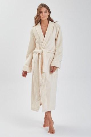 NATUREL 908 кремовый бамбуковый  женский халат  PECHE MONNAIE  Россия