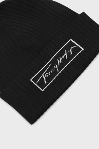 Мужская черная шапка SIGNATURE BEANIE Tommy Hilfiger