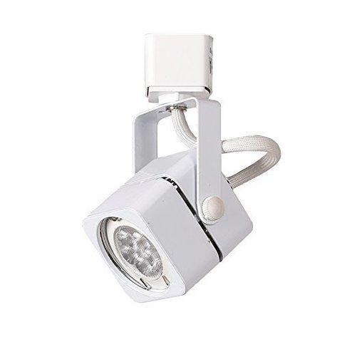 Квадратный трековый светильник под лампу MR16 GU5.3 (белый)