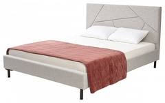 Кровать SWEET VALERY 160x200 ткань Stone 1A — серый